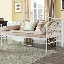 New Twin Size Daybed Metal Scrolled Day Bed Pewter Guest Roo