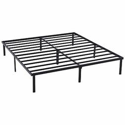 Platform Queen Size Bed Frame 18 Inch Mattress Foundation He