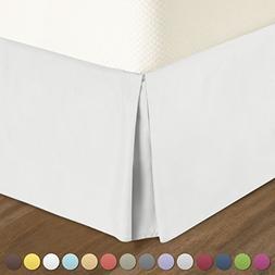 Pleated Bed-Skirt Full Size – White Luxury Double Brushed