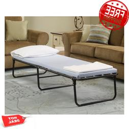 Portable Bed Frame 6in Memory Foam Fold Bed Cot Single Pad G