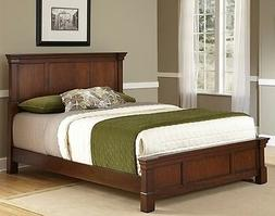 Rustic Cherry Queen Size Beds Headboard Footboard Bed Frame