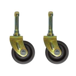 SET OF  BED  FRAME CASTER WHEELS WITH SOCKET INSERTS
