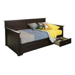 South Shore 10079 Daybed with 3 Storage Drawers, Chocolate,