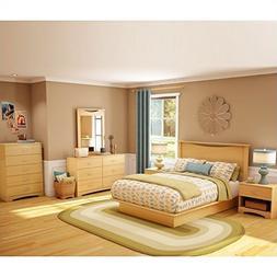 South Shore Copley Wood Panel Headboard 4 Piece Bedroom Set