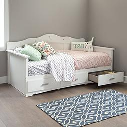 South Shore Tiara Kids Twin Daybed with 3 Storage Drawers, P