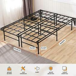 TATAGO 16inch Tall Heavy Duty Platform Bed Frame & 2 Set Hea
