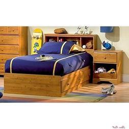 Toddler Bed Frame Twin Headboard Nightstand Bedroom Set Wood