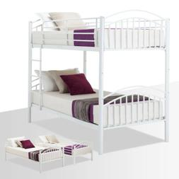 Twin Over Twin Metal Bunk Bed Frame Convertible Frames or 2