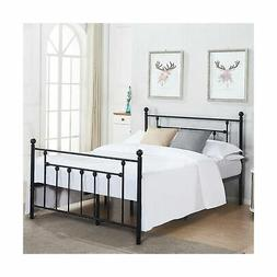 VECELO Queen Size Bed Frame, Metal Platform Mattress Foundat