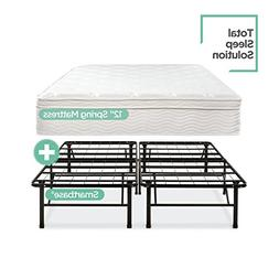 Zinus Night Therapy Spring 12 Inch Euro Box Top Mattress and