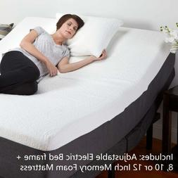 Adjustable Base Electric Bed Frame And Mattress Remote Medic