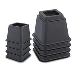 Juvale Adjustable Bed Risers/Furniture Risers – Heavy Duty