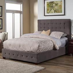 Alpine Furniture Alma Upholstered Platform Bed, California K