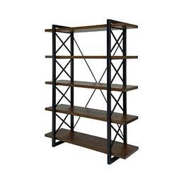 ioneyes Of America Linley V Industrial 5 Shelf Bookcase In O