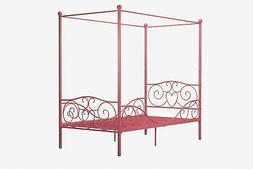 RealRooms Arielle Metal Canopy Metal Bed Frame, Twin Size, M