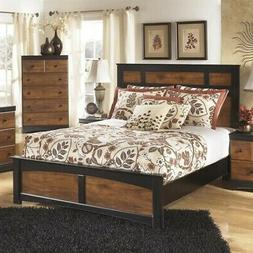 Ashley Aimwell Wood Queen Panel Bed in Brown