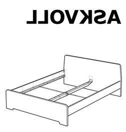 IKEA ASKVOLL Bed Frame Replacement parts Hardwares for Bed A