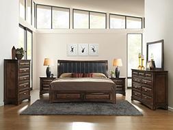 Roundhill Furniture B179KDMN2C Broval 179 Light Espresso Fin