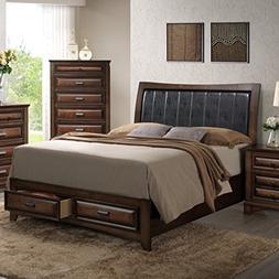 Roundhill Furniture B179Q Broval 179 Light Espresso Finish W