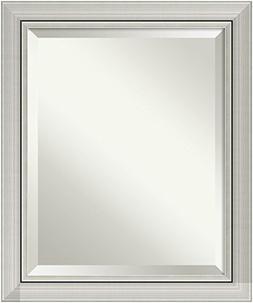 Bathroom Mirror Medium,  Romano Narrow Silver: Outer Size 20