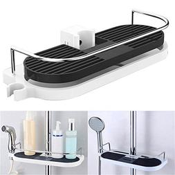 SODIAL Bathroom Shelf Multifunction Storage Rack Shower Head