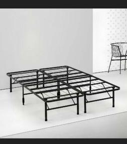 """Bed Frame Black by Spa Sensations Zinus 14"""" Steel SmartBase"""