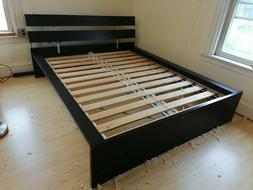 IKEA Bed frame, black, Queen size LOCAL PICK-UP ONLY Located