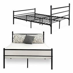 Bed Frame Full Size, VECELO Metal Platform Mattress Foundati