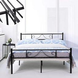 GreenForest Bed Frame Full Size with Headboard and Stable Me