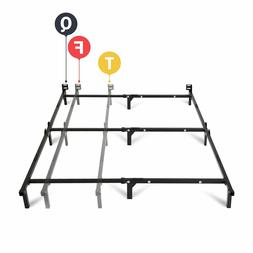 "Bed Frame Fully Adjustable 7"" Mainstays Black Heavy Duty Ste"