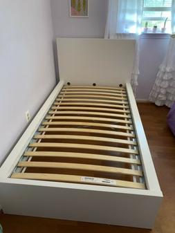 Bed frame, high, white/LuröyTwin