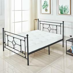 Victoria Bed Frame/Metal Platform Mattress Foundation No Box