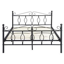 GreenForest Bed Frame Queen with Wooden Slats Metal Platform