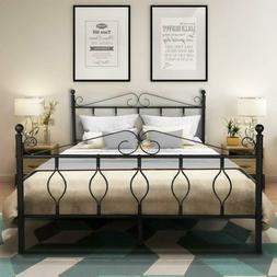 Greenforest Bed Frame Queen Size Metal With Headboard Footbo