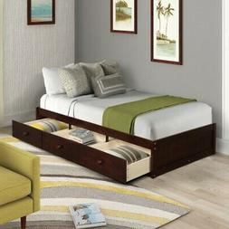 Oris Fur Bed Frame Twin Platform Beds with Wood Slat Support