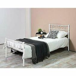 Bed Frame Twin Size, Yanni Adrina Easy Set-up Premium Metal