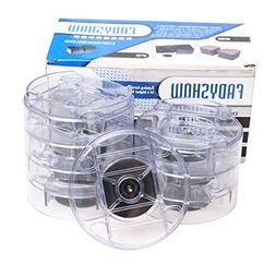 Fadyshow Bed Risers Raise Furnitures Clear Round Furniture L