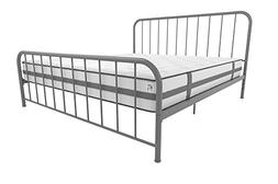 Novogratz 4133449N Bellamy Metal Bed, King, Grey
