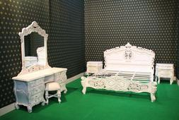 BESPOKE French baroque designer 6 Pieces Rococo bed set wth