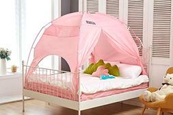 BESTEN Floorless Indoor Privacy Tent on Bed with Color Poles