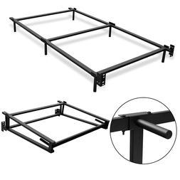 black folding heavy duty metal bed frame
