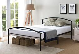 Kings Brand Black Metal Full Size Platform Bed Frame With He