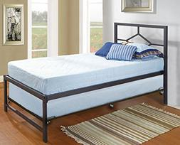 Kings Brand Furniture Black Metal Twin Size Daybed Frame wit