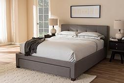 Baxton Studio Storage Platform Bed in Gray