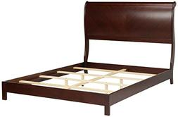 Bridgeport Complete Bed with Curved Sleigh Headboard, Espres
