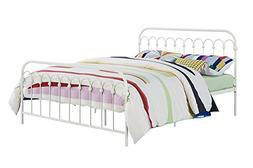 9 by Novogratz Bright Pop Full Metal Bed Multiple Colors Whi