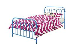 Novogratz Bright Pop Metal Bed, Adjustable Height for Underb