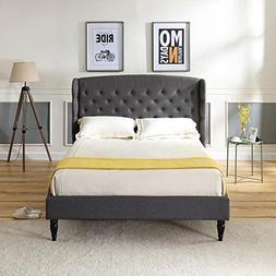 Classic Brands DeCoro Brighton Upholstered Platform Bed | He