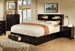Furniture of America Broadway Platform Bed with Storage Draw
