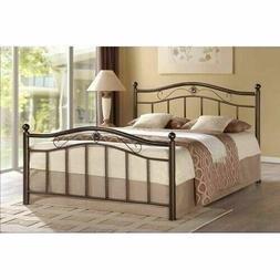 Bronze Twin Full Queen Metal Platform Bed Frame Headboard Fo